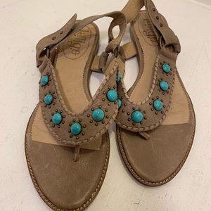 Latigo anthropologie brown leather sandals 7.5